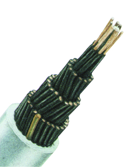 YSLY-JZ 7x1 PVC Control Cable, fine stranded, grey