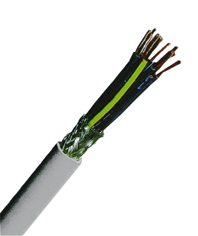 YSLCY-OZ 2x0,5 PVC Control Cable, fine stranded, grey