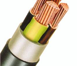 PVC Insulated Heavy Current Cable 0,6/1kV EYY-O 4x10re bk