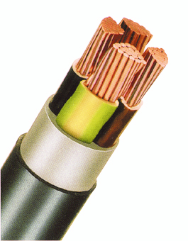 PVC Insulated Heavy Current Cable 0,6/1kV EYY-O 4x240rm bk
