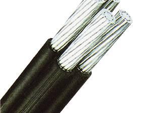 PE Insulated Overhead Line 0,6/1kV E-A2Y 2x25rm black