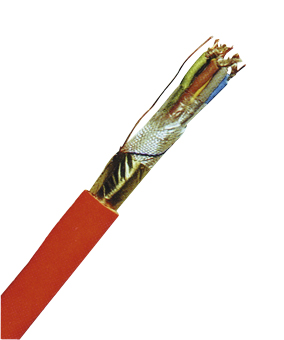 Fire Alarm Cable JE-H(ST)H 2x2x0,8 E90 BMK red, halogenfree