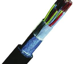 PE Insulated Telecommunication Cable F-2YA2Y 20x2x0,6 black