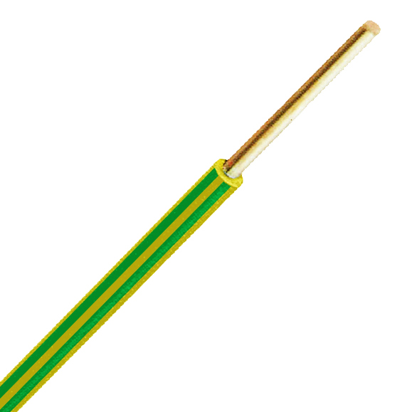 PVC Insulated Wires H07V-R (Ym) 10mm² yellow/green