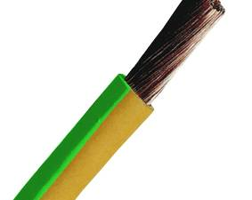 PVC Insulated Wires H05V-K 0,5mm² yellow/green HPV