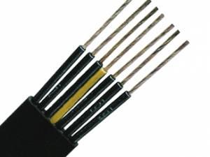 PVC Flat Cable for Medium-Level H07VVH6-F 4G1,5 black