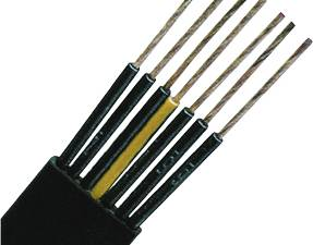 PVC Flat Cable for Medium-Level H07VVH6-F 4G2,5 black