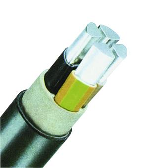 PVC Insulated Cable Alu Conductor 0,6/1kV E-AYY-J 4x70sm bk
