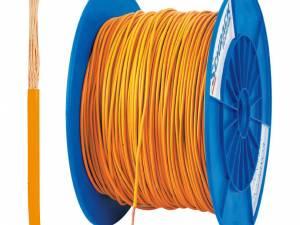 PVC Insulated Single Core Wire H05V-K 0,5mm² orange (coil)