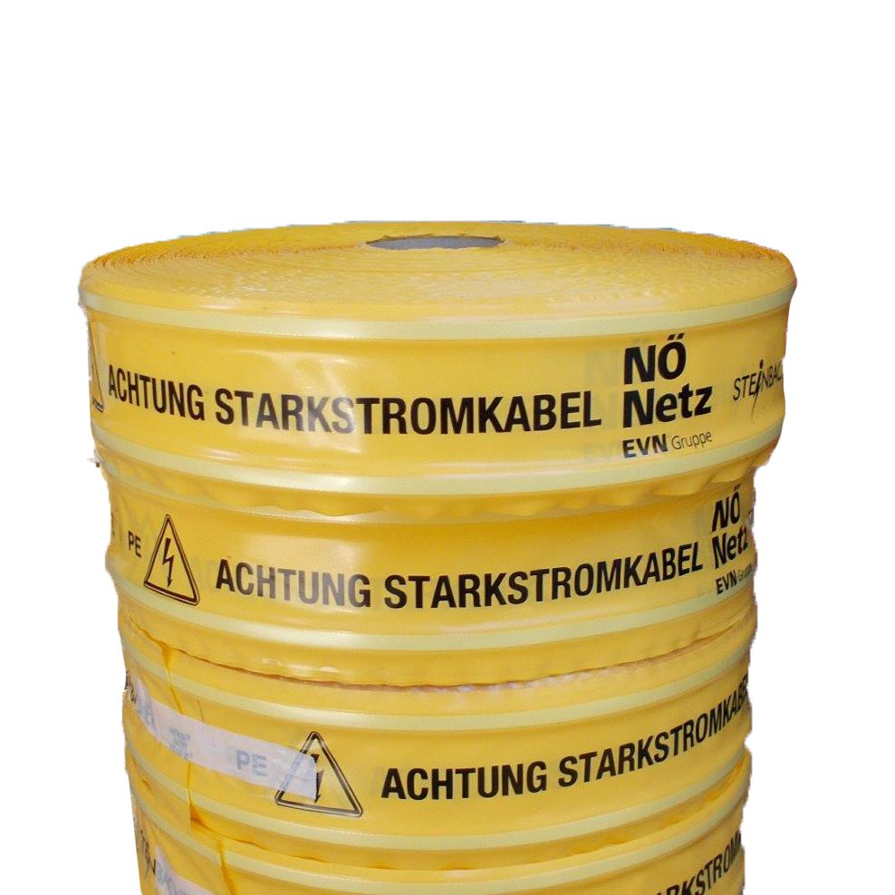 """Cable warning tape printed with """"NÖ Netz"""", 100/0,25mm (250m)"""