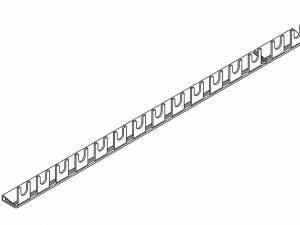 Busbar 1-pole, 10mm², 1m, fork