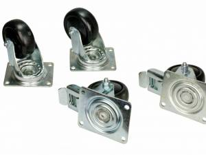 Castors (2 with brake, 2 w/o brake) for DS/DSZ/DSI-enclosure