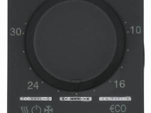 Thermostat, 5-35°C, 6A, 2M, black