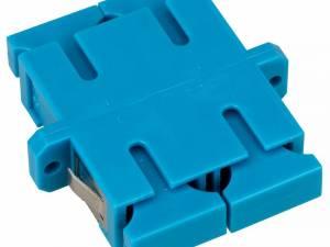 FO Coupler SC-Duplex,Plastic,Singlemode,zirc,flange,blue,ECO
