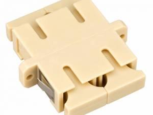 FO Coupler SC-Duplex,Plastic,MM , Ceramic,flange,beige,ECO