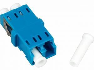 FO Coupler LC-Duplex,Plastic,Singlemode,zirc,w/o fl,blue,ECO