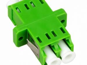FO Coupler LC/APC-Duplex,Plastic,Singlemode,zirc,fl,greenECO