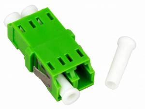 FO Coupler LC/APC-Duplex,Plastic,Singlemode,zir,w/o fl,gnECO