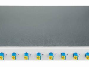 "FO Splicebox, 16 Fibers, LC, 9/125µm OS2, 19"", 1U"