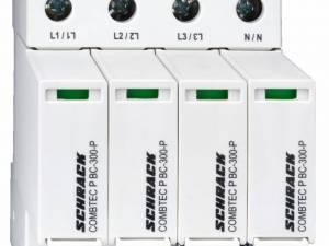 Lightning Arr.Pluggable,4+0TNS,Cl.I+II(B+C)300V / 12.5kA+RC