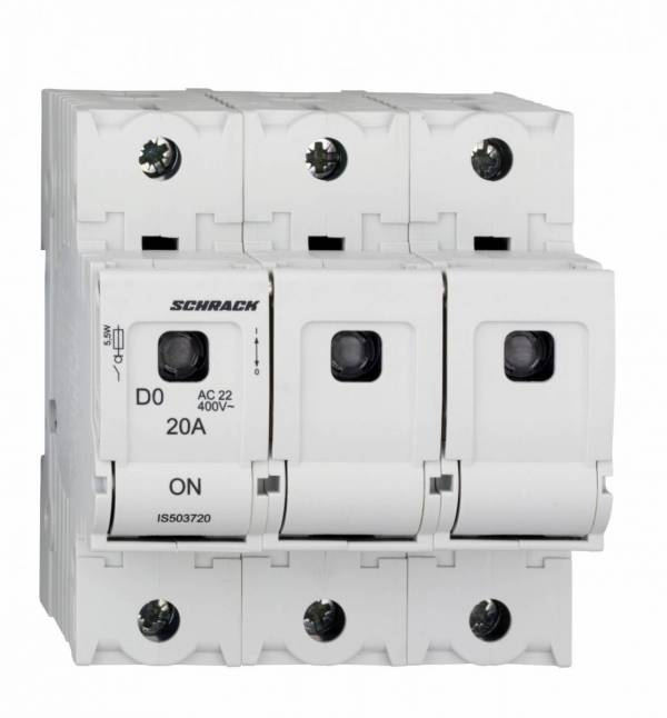 Switch-disconnector D02, series ARROW S, 3-pole, 20A