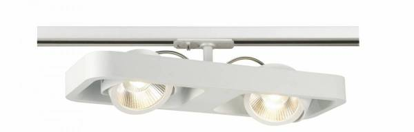 LYNAH LED double Spot,3000K, white, 24°,incl. 1Phase adapter