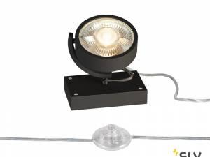 KALU QPAR111 1 FLOOR, Floor lamp, black, max. 75W