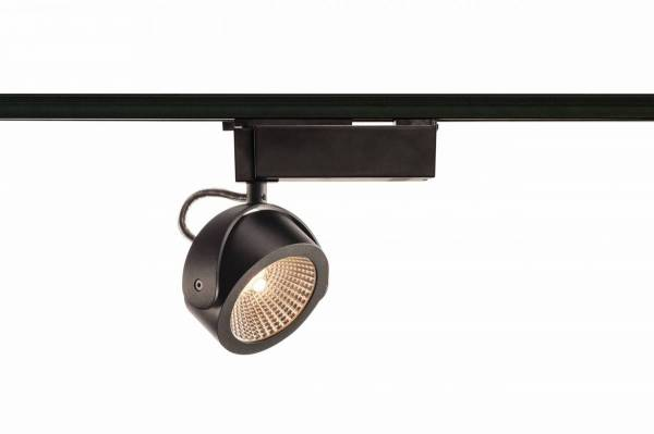 KALU LED Spot, 3000K, black, 60°, incl. 1 Phase adapter