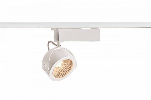 KALU LED Spot, 3000K, white/black, 60°, incl. 1Phase adapter