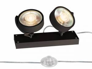 KALU QPAR111 2 FLOOR, Floor lamp, black, max. 75W