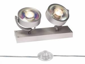 KALU QPAR111 2 FLOOR, Floor lamp, brushed aluminum, max. 75W