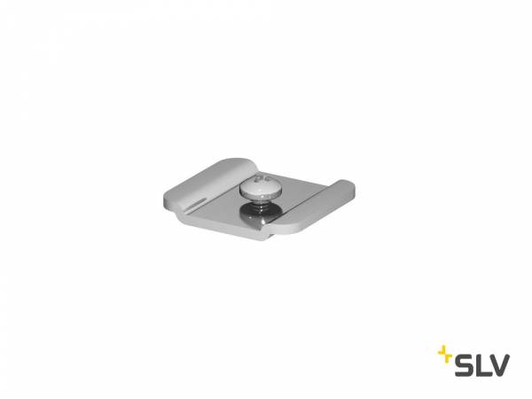 H-PROFILE D-TRACK track system adapter, silver