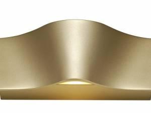 WAVEWALLWall lamp2x4,6WLED,3000K, 700lm, brass