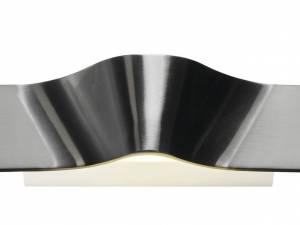 WAVEWALLWall lamp,2x4,6WLED,3000K, 700lm, br. aluminium