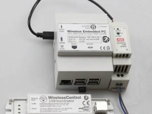 DIN rail PC (CPC) including WirelessControl Software
